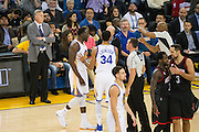 Golden State Warriors forward Draymond Green (23) is given a technical foul in the second quarter against the Houston Rockets at Oracle Arena in Oakland, Calif., on December 1, 2016. (Stan Olszewski/Special to S.F. Examiner)