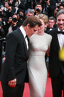 Actor Josh Brolin, Actress Emily Blunt,  Director Denis Villeneuve at the gala screening for the film Sicario at the 68th Cannes Film Festival, Tuesday May 19th 2015, Cannes, France.