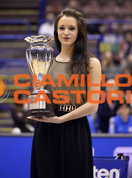 DESCRIZIONE : Milano Coppa Italia Final Eight 2014 Quarti di Finale Montepaschi Siena Acea Roma<br /> GIOCATORE : Coppa<br /> CATEGORIA : Pregame<br /> SQUADRA : <br /> EVENTO : Beko Coppa Italia Final Eight 2014<br /> GARA : Montepaschi Siena Acea Roma<br /> DATA : 07/02/2014<br /> SPORT : Pallacanestro<br /> AUTORE : Agenzia Ciamillo-Castoria/R.Morgano<br /> Galleria : Lega Basket Final Eight Coppa Italia 2014<br /> Fotonotizia : Milano Coppa Italia Final Eight 2014 Quarti di Finale Montepaschi Siena Acea Roma<br /> Predefinita :