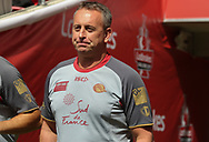 Steve McNamara (Coach) of Catalan Dragons during the Catalan Dragons Captains Run ahead of the Ladbrokes Challenge Cup Final at Wembley Stadium, London<br /> Picture by Stephen Gaunt/Focus Images Ltd +447904 833202<br /> 24/08/2018