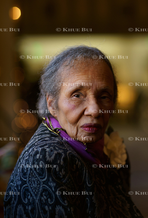 Assignment ID: 30214719A<br />Slug: AKENNEDY<br /><br />Playwright Adrienne Kennedy is shown at the Williamsburg Lodge Thursday, December 28, 2017, in Williamsburg, VA  . Her pioneering 1964 play &quot;Funnyhouse of a Negro&quot; had an eye-opening revival at Signature Theater last year and now she's written a new play &quot;He Brought Her Heart Back in a Box&quot;.<br /><br />Photo by Khue Bui