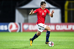 October 5, 2017 - San Marino, SAN MARINO - 171005 Sander Berge of Norway during the FIFA World Cup Qualifier match between San Marino and Norway on October 5, 2017 in San Marino. .Photo: Fredrik Varfjell / BILDBYRN / kod FV / 150027 (Credit Image: © Fredrik Varfjell/Bildbyran via ZUMA Wire)