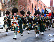 Marching band at the local Saint Patrick's Day parade.