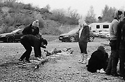 Ravers at a quarry in Frome, Somerset March 2014