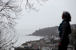 UK ENGLAND FOWEY 19FEB15 - Writer Tatiana De Rosnay explores Fowey, Cornwall, England. Fowey, a small fishing and harbour village was the living place of famous English writer Daphne Du Maurier and many of her novels are based here.<br /> <br /> jre/Photo by Jiri Rezac<br /> <br /> © Jiri Rezac 2015