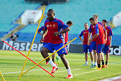 20.08.2013, Sofia, BUL, UEFA CL Play off, FC Basel, Training, im Bild, Giovanni Sio // during the UEFA Champions League Trainings Match of FC Basel in Sofia, Bulgaria on 2013/08/20. EXPA Pictures © 2013, PhotoCredit: EXPA/ Freshfocus/ Andy Mueller<br /> <br /> ***** ATTENTION - for AUT, SLO, CRO, SRB, BIH only *****