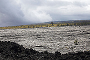 Big Island. Hawai'i Volcanoes National Park. Giant old lava flow, 1969-1974, seen from Kealakomo Lookout.