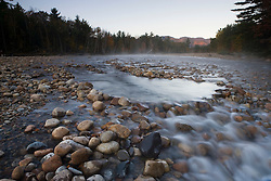 The rushing waters of the Saco River in Bartlett, New Hampshire.