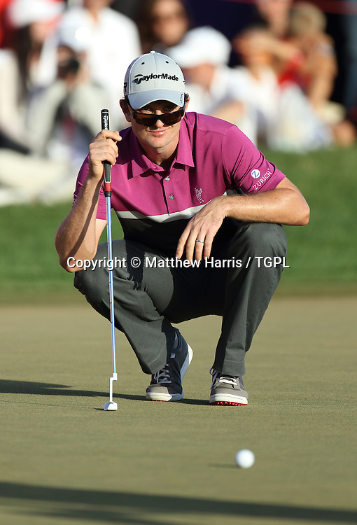 Justin ROSE (ENG) during fourth round,Abu Dhabi HSBC Championship 2013,Abu Dhabi Golf Club,Abu Dhabi,20th January 2013.