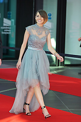 LIVERPOOL, ENGLAND - Thursday, May 12, 2016: Liverpool FC TV presenter Claire Rourke arrives on the red carpet for the Liverpool FC Players' Awards Dinner 2016 at the Liverpool Arena. (Pic by David Rawcliffe/Propaganda)