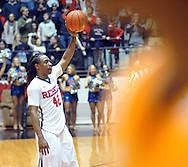 "Mississippi Rebels guard Stefan Moody (42) holds the ball aloft following the win over Tennessee at the C.M. ""Tad"" Smith Coliseum in Oxford, Miss. on Saturday, February 21, 2015. Mississippi won 59-57. (AP Photo/Oxford Eagle, Bruce Newman)"