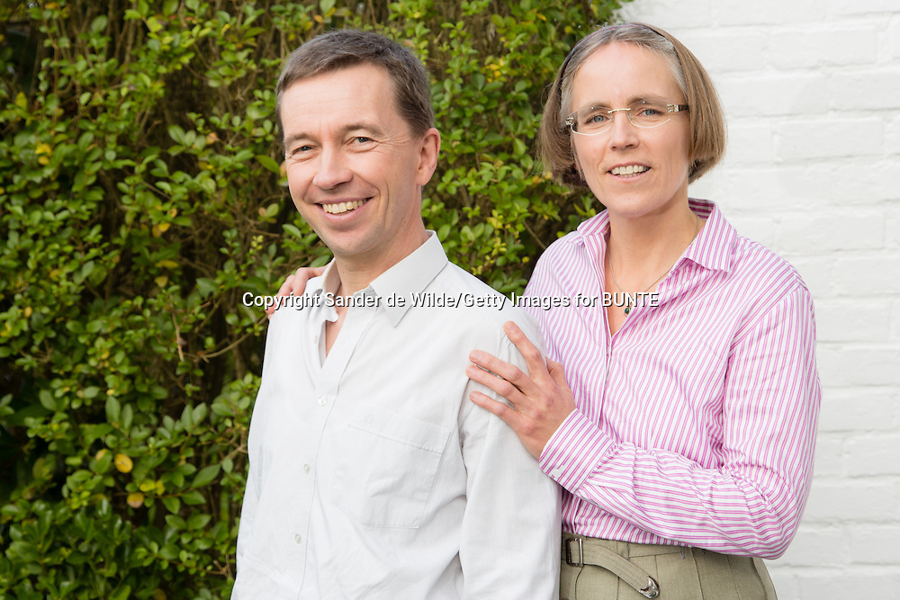 German politician Bernd Lucke and his wife Dorothee Lucke at their house in Brussels Belgium.