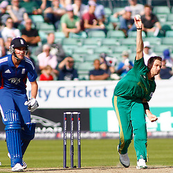 08/09/2012 Durham, England. Dale Steyn bowling during the 1st Nat West t20 cricket match between  England and South Africa and played at Emirate Riverside Cricket Ground: Mandatory credit: Mitchell Gunn