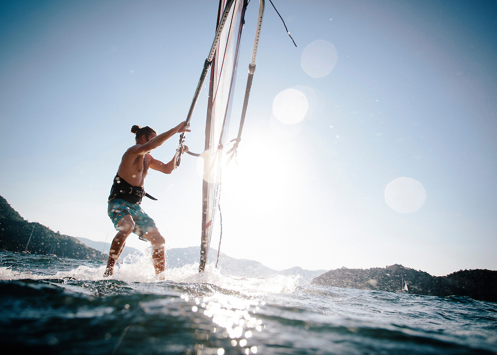 Windsurfing at Neilson's Adakoy Beachclub, Turkey
