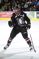 KELOWNA, CANADA - FEBRUARY 18: Matt Dumba #24 of the Red Deer Rebels skates to the bench as the Red Deer Rebels visit the Kelowna Rockets on February 18, 2012 at Prospera Place in Kelowna, British Columbia, Canada (Photo by Marissa Baecker/Shoot the Breeze) *** Local Caption ***