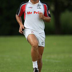 The Sharks Camp Patrick Lambie during the Sharks training session at Michaelhouse,  College of Natal, was founded in 1896 and is an internationally renowned boarding school for senior boys. Situated on a secure estate in the beautiful Midlands of KwaZulu-Natal, South Africa, the school has a fully residential staff which facilitates a high level of pastoral care and interaction with the pupils. The distinctive ivy clad architecture on inter-linked quadrangles inspires a sense of belonging amongst the 540 boys of international and regional origin.