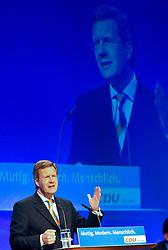 01.02.2012, GER, THEMENPAKET, Bundespräsident Wulff, im Bild Christian Wulff auf dem kleinen Parteitag der Hessen CDU in Kassel, Bild aufgenommen am 14.07.2008. EXPA Pictures © 2012, PhotoCredit: EXPA/ Eibner/ ATTENTION - OUT OF GER *****