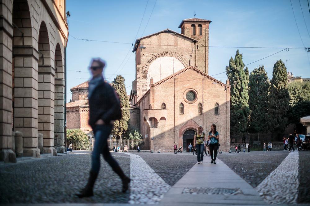 31 MAR 2017 - Bologna - Piazza e Basilica di Santo Stefano.