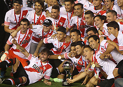 10.12.2014, River Plate Stadium, Buenos Aires, ARG, Südamerika Cup 2014, River Plate vs Atletico Nacional de Medellin, im Bild River Plate players, from argentinians football team, celebrates its tryumph // during the 2nd final match of Southamerican Cup between River Plate vs Atletico Nacional and Medellin at the River Plate Stadium in Buenos Aires, Argentina on 2014/12/10. EXPA Pictures © 2014, PhotoCredit: EXPA/ Eibner-Pressefoto/ Cezaro<br /> <br /> *****ATTENTION - OUT of GER*****