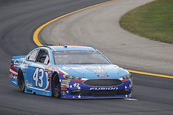 July 14, 2017 - Loudon, NH, United States of America - July 14, 2017 - Loudon, NH, USA: Aric Almirola (43) hangs out in the garage during practice for the Overton's 301 at New Hampshire Motor Speedway in Loudon, NH. (Credit Image: © Justin R. Noe Asp Inc/ASP via ZUMA Wire)