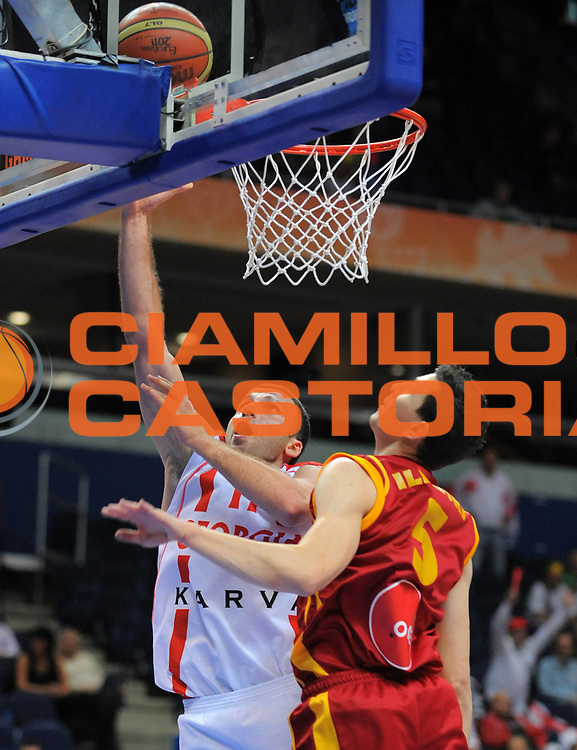 DESCRIZIONE : Vilnius Lithuania Lituania Eurobasket Men 2011 Second Round Georgia Macedonia Georgia FYR of Macedonia<br /> GIOCATORE : Manuchar Markoishvili <br /> SQUADRA : Georgia<br /> EVENTO : Eurobasket Men 2011<br /> GARA : Georgia Macedonia Georgia FYR of Macedonia<br /> DATA : 08/09/2011 <br /> CATEGORIA : tiro shot<br /> SPORT : Pallacanestro <br /> AUTORE : Agenzia Ciamillo-Castoria/T.Wiendesohler<br /> Galleria : Eurobasket Men 2011 <br /> Fotonotizia : Vilnius Lithuania Lituania Eurobasket Men 2011 Second Round Georgia Macedonia Georgia FYR of Macedonia<br /> Predefinita :