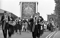 Rossington Branch banner. 1990 Yorkshire Miner's Gala. Rotherham.
