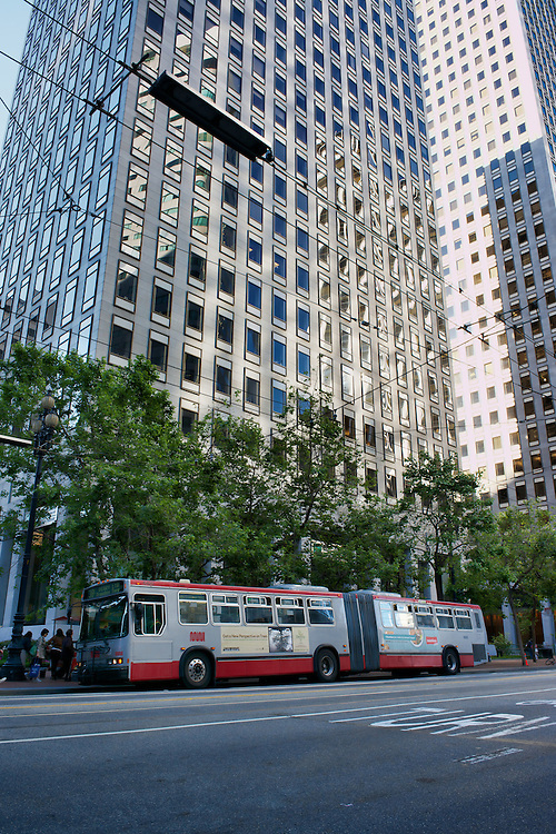 The 38L Geary bus on Market St during the morning commute | June 27, 2012