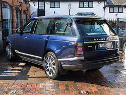 """Prince Philip is selling this custom Range Rover - just weeks after he crashed a different car. The Royal is selling the 4.4-litre Range Rover Autobiography, the car in which he drove former US President Barack Obama and First Lady Michelle during a visit to Windsor back in 2016. The used car - from 2016 and with just 3200 miles on the clock - is on the market for £129,850 GBP - more than a new model can cost. Jack Morgan-Jones, of Bramley Motor Cars, who is selling the vehicle, said: """"It's such a beautiful example that has very low mileage and has been kept to the absolute highest of standards."""" The luxurious blue SUV features entertainment screens. It was previously equipped with extra features when belonging to the Royal Household - including specially adapted fixed side steps to enable Her Majesty The Queen to be able to access the rear passenger compartment more comfortably. The description reads: """"The warning sticker for the siren, which was located in the engine compartment, remains as a hint to this Range Rover's previous life. """"These items have since been removed following the vehicle being taken out of Royal Service."""" The car is not bulletproof. Prince Philip, 97, was not injured in a car crash in mid-January, which happened as he drove another Land Rover out of a driveway onto a main road close to the Queen's Sandringham estate. Please credit Bramley Motor Cars / MEGA. 22 Feb 2019 Pictured: Range Rover. Photo credit: Bramley Motor Cars/MEGA TheMegaAgency.com +1 888 505 6342"""