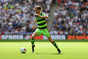 Forest Green Rovers Christian Doidge(9) runs forward during the Vanarama National League Play Off Final match between Tranmere Rovers and Forest Green Rovers at Wembley Stadium, London, England on 14 May 2017. Photo by Shane Healey.