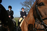 Members of the Wynnstay Hunt assemble before they ride out for a day's foxhunting. The Wynnstay Hunt, named after Sir Watkin Williams-Wynn, dated back to the 18th century and hunted on country estates in Shropshire, Cheshire and north Wales. Hunting with dogs in England and Wales became illegal on 18th February 2005 despite legal challenges to the ban and many hunts vowed to continue the ancient sport of foxhunting, risking prosecution.