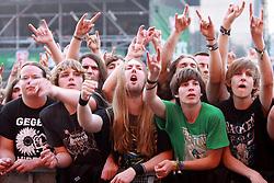 05.08.2011, Wacken, GER, W:O:A Wacken Open Air 2011, im Bild Teufelsgruss und riesige Stimmung vor der Wackenbuehne, EXPA Pictures © 2011, PhotoCredit: EXPA/ nph/  Kohring       ****** out of GER / CRO  / BEL ******