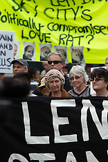 Auckland-Protest march against Mayor Len Brown