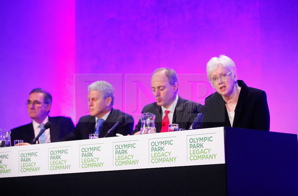 © under license to London News Pictures.  11/02/2011 David Edmonds, Keith Edelman, Andrew Altman, chief executive, and Baroness Margaret Ford. Olympic Legacy Company announce West Ham Football Club is the preferred bidder for the Olympic Stadium at the Queen Elizabeth II Conference centre Photo credit should read: Olivia Harris/ London News Pictures