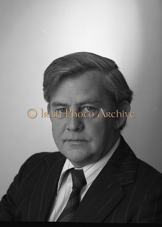 1980-04-14.14th April 1980.14-04-1980.04-14-80..Photographed at Hill Samuel House, Industrial Credit Company, Adelaide Road, Dublin..Brendan O'Leary, Industrial Credit Company..