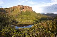 Sunrise over Walled Mountan in Cradle Mountain–Lake St Clair National Park, Tasmania in Cradle Mountain–Lake St Clair National Park, Tasmania