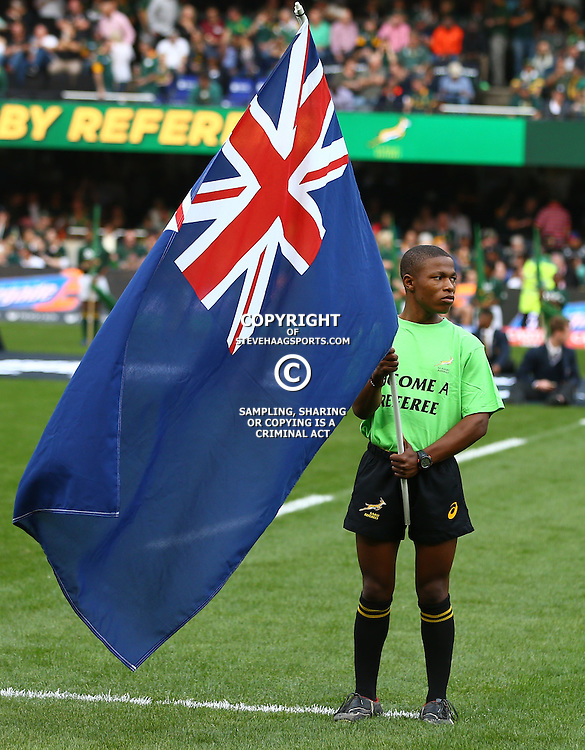 DURBAN, SOUTH AFRICA, 8 October, 2016 -Not the New Zealand flag during the Rugby Championship match between South Africa and New Zealand at Kings Park in Durban, South Africa. (Photo by Steve Haag)