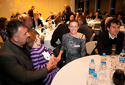 Vlado Kevo, Sonja Roman and Uros Zager during the Slovenia's Athlete of the year award ceremony by Slovenian Athletics Federation AZS, on November 12, 2008 in Hotel Mons, Ljubljana, Slovenia.(Photo By Vid Ponikvar / Sportida.com) , on November 12, 2010.