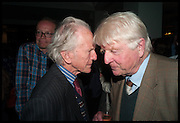 DAVID GLADSTONE; STANLEY JOHNSON, Launch of Rachel Kelly's memoir 'Black Rainbow' about recovering from depression with the help of poetry published by Hodder & Stoughton , ( Author proceeds will be given to the charities SANE and United Response ). Cafe of the National Gallery.  London. 7 May 2014