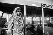 Bangladesh. Woman at ferry station