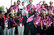 Mayor with London 2012 volunteering heroes<br />