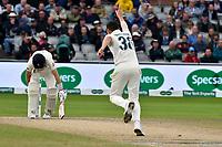 Cricket - 2019 Australia Ashes Tour of England - 4th Test, Day Three<br /> <br /> Joe Root,  lbw Josh Hazlewood at Old Trafford<br /> , at Old Trafford.<br /> <br /> COLORSPORT/WINSTON BYNORTH