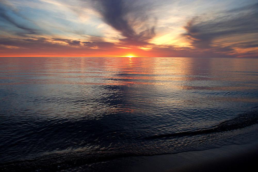empire,sleeping bear dunes national lakeshore,michigan,leelanau,sunset,water,lake michigan