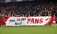 Schweizer Spieler bedanken sich bei den Fans nach Spielschluss © Giuseppe Esposito/EQ Images