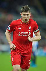 NEWCASTLE-UPON-TYNE, ENGLAND - Sunday, December 6, 2015: Liverpool's James Milner in action against Newcastle United during the Premier League match at St. James' Park. (Pic by David Rawcliffe/Propaganda)