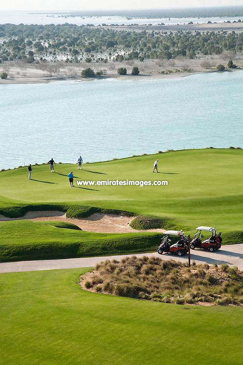 Yas Links golf course in Abu Dhabi