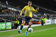 Coventry City defender Tennai Watson (2) controls the ball during the EFL Trophy match between Milton Keynes Dons and Coventry City at Stadium:MK, Milton Keynes, England on 3 December 2019.