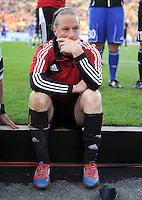 FRAUEN  FUSSBALL   CHAMPIONS LEAGUE  FINALE   2011/2012      Olympique Lyon - 1. FFC Frankfurt          17.05.2012 Enttaeuschung nach der Niederlage, Melanie Behringer (1. FFC Frankfurt)
