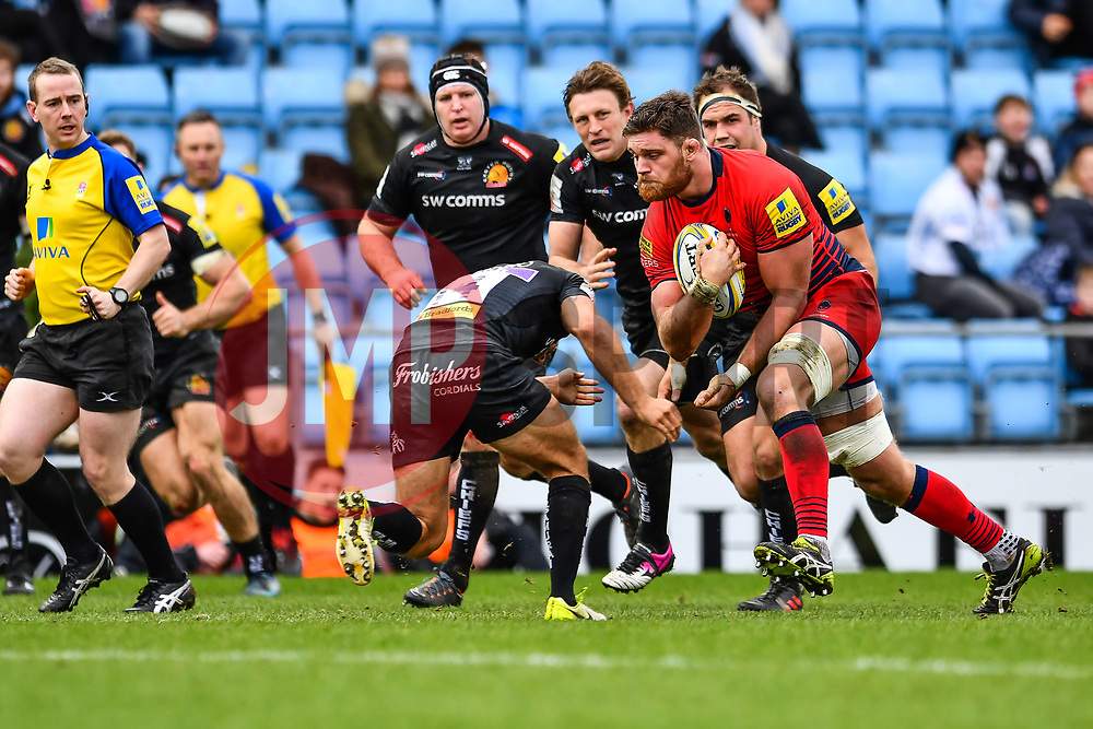 Darren Barry of Worcester Warriors in action - Mandatory by-line: Craig Thomas/JMP - 10/02/2018 - RUGBY - Sandy Park Stadium - Exeter, England - Exeter Chiefs v Worcester Warriors - Aviva Premiership