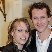 NLD/Amsterdam/20120326 - Inloop Schaatsgala 2012, Stephan Groothuis met partner Esther