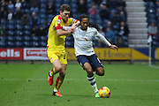 Preston North End Midfielder Daniel Johnson attacks during the Sky Bet Championship match between Preston North End and Rotherham United at Deepdale, Preston, England on 2 January 2016. Photo by Pete Burns.